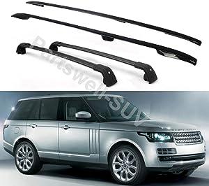 YiXi-Partswell 4Pcs Roof Rail Side Rail Roof Rack Lockable Cross Bars Crossbar Fit for Range Rover 2013-2020 - Black
