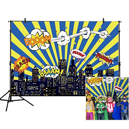 Allenjoy 7x5ft photography backdrop superhero birthday party