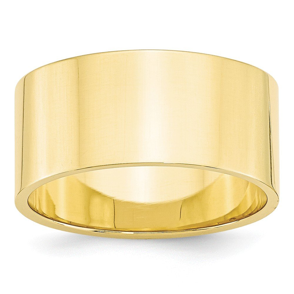 Top 10 Jewelry Gift 10KY 10mm LTW Flat Band Size 7