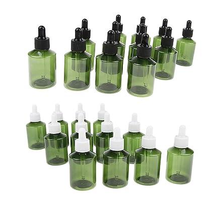 sharplace 24pcs cuentagotas botellas de plástico vacías botella de aceites esenciales