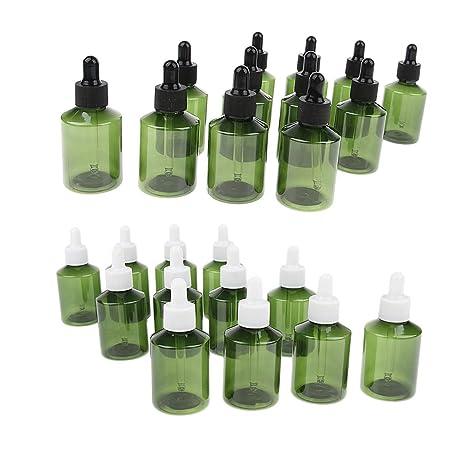 Sharplace 24 unidades Botellas Cuentagotas Cuidado de Ojos de 50ml de Plástico Recargable