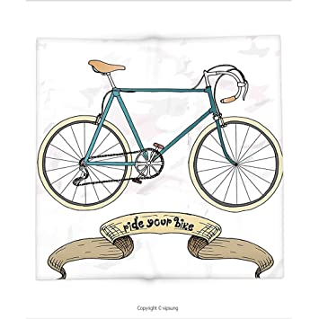 Amazon Custom Printed Throw Blanket With Retro Ride Your Bike Stunning Bicycle Throw Blanket