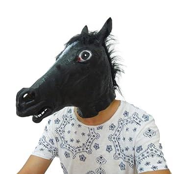 Máscara de caballo de Halloween, decoración de caballo de látex, manualidades 1 A