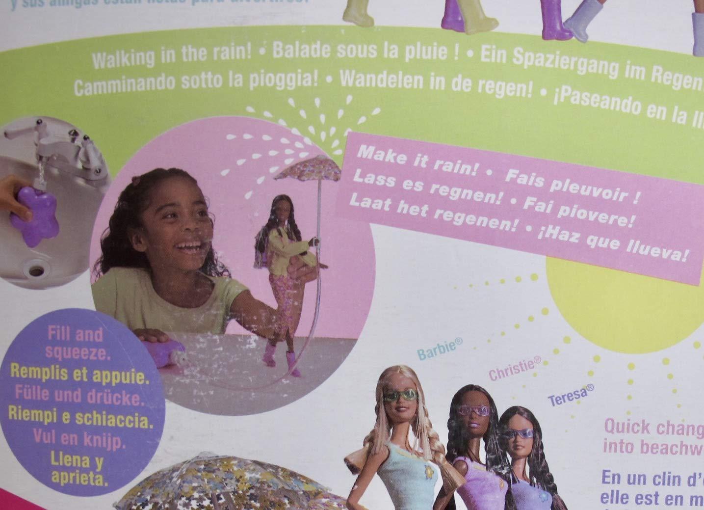 Amazon.com: Barbie CHRISTIE RAIN OR SUN DOLL AA w RAIN