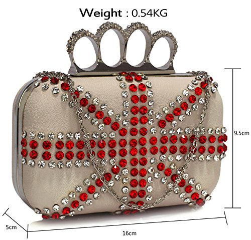 Hardcase Hard Evening Clutch Bag Box Handbag Design Diamante Ladies Designer Bag Ivory For Case Look 1 Party Wedding xfXqw5