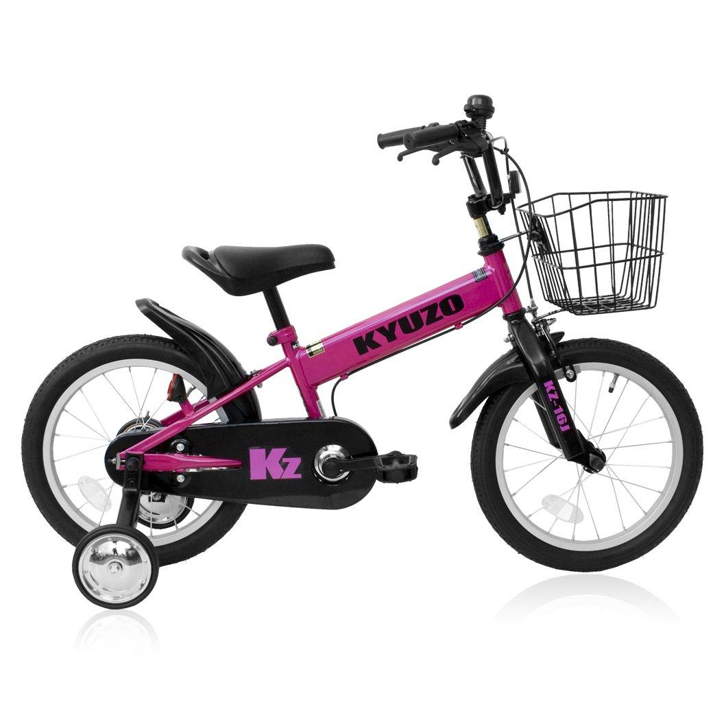 全5色 KYUZO 16インチ 子供用自転車 補助輪付 カゴ付 B06Y4B9F7D ピンク ピンク