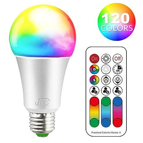 Ilc Led E27 Farbwechsel Lampe Rgb Birne 10w Warmweiss Fernbedienung