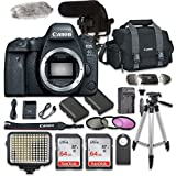 Canon EOS 6D Mark II Digital SLR Camera Bundle (Body Only) + Video Creator Accessory Bundle (14 items)