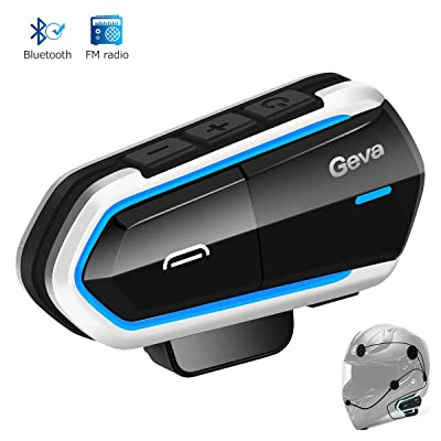 Motorcycle Bluetooth Headset, Geva Helmet Bluetooth Headset, FM Radio/Handsfree Automatic Answer/Accounce Incoming Phone Number/HD Stereo Music: Car Electronics