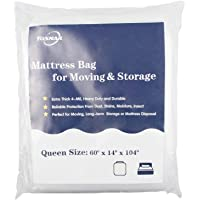 Tosnail Extra Thick 4-Mil Heavy Duty Mattress Bag Cover for Moving and Storage - Queen