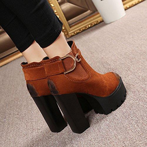 KPHY-weibliche hochhackige stiefel mit martin roh 9a11c 9a11c 9a11c wasserdichten stiefel schuhe stiefel und retro - baumwoll - stiefel Caramel color 831a0e