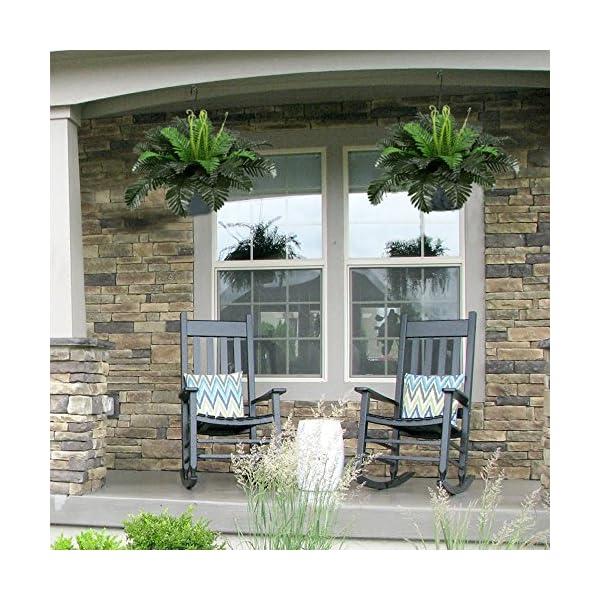 HO2NLE-2PCS-Artificial-Boston-Ferns-Shrubs-Silk-Fake-Greenery-Plants-Home-Garden-Wedding-Patio-Outdoor-Balcony-Hanging-Pot-Decor