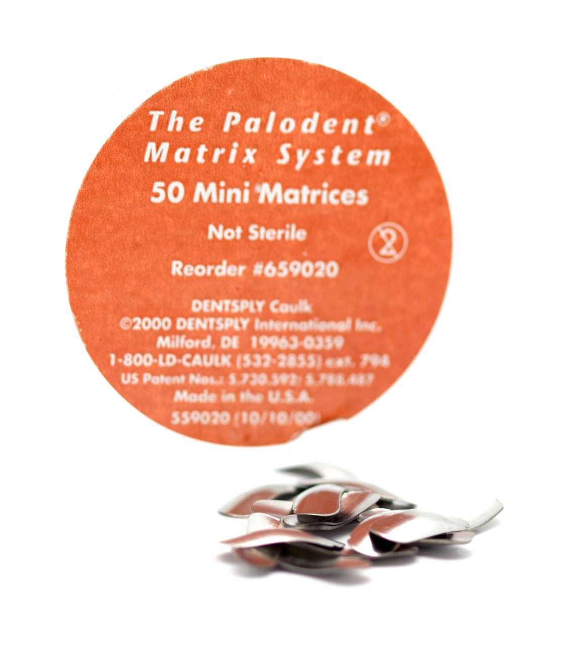 Dentsply 659020 Palodent Sectional Matrix System, Mini Matrices Refill (Pack of 50)