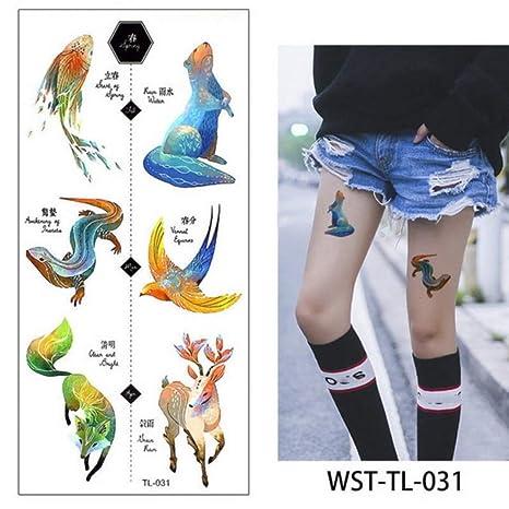 3 Piezas Tatuaje y Arte Corporal Pegatina Brazo Manga Tatuaje Loto ...