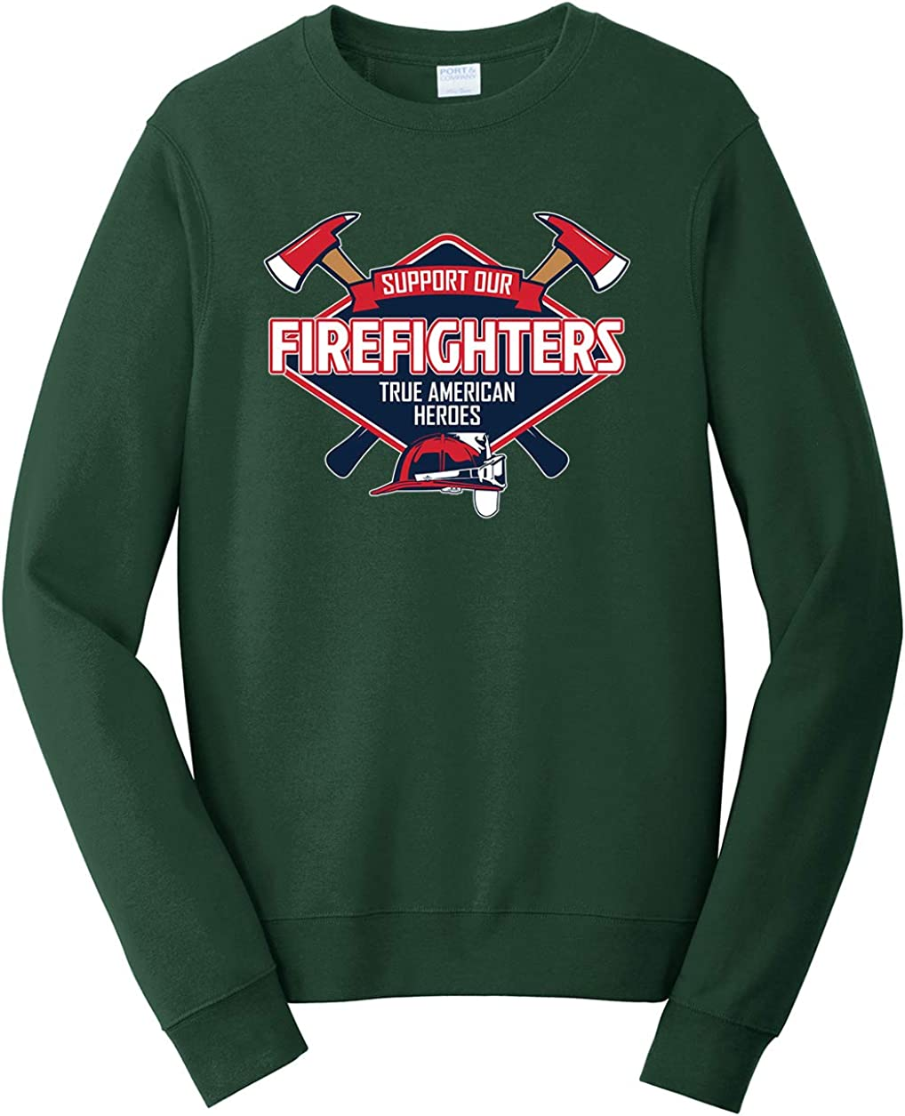 Tenacitee Unisex Support Our Firefighters American Heroes Sweatshirt