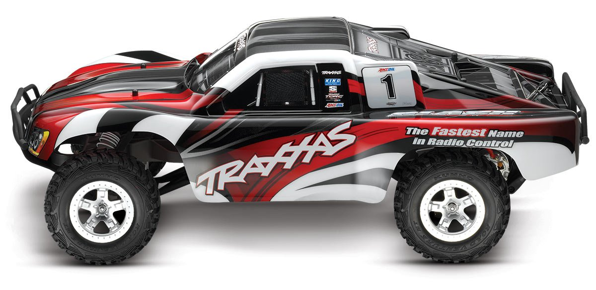 Amazon Traxxas 1 10 Slash 2WD RTR With 24GHz Radio No Battery Red Toys Games