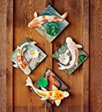 Koi Wall Art, set of 4
