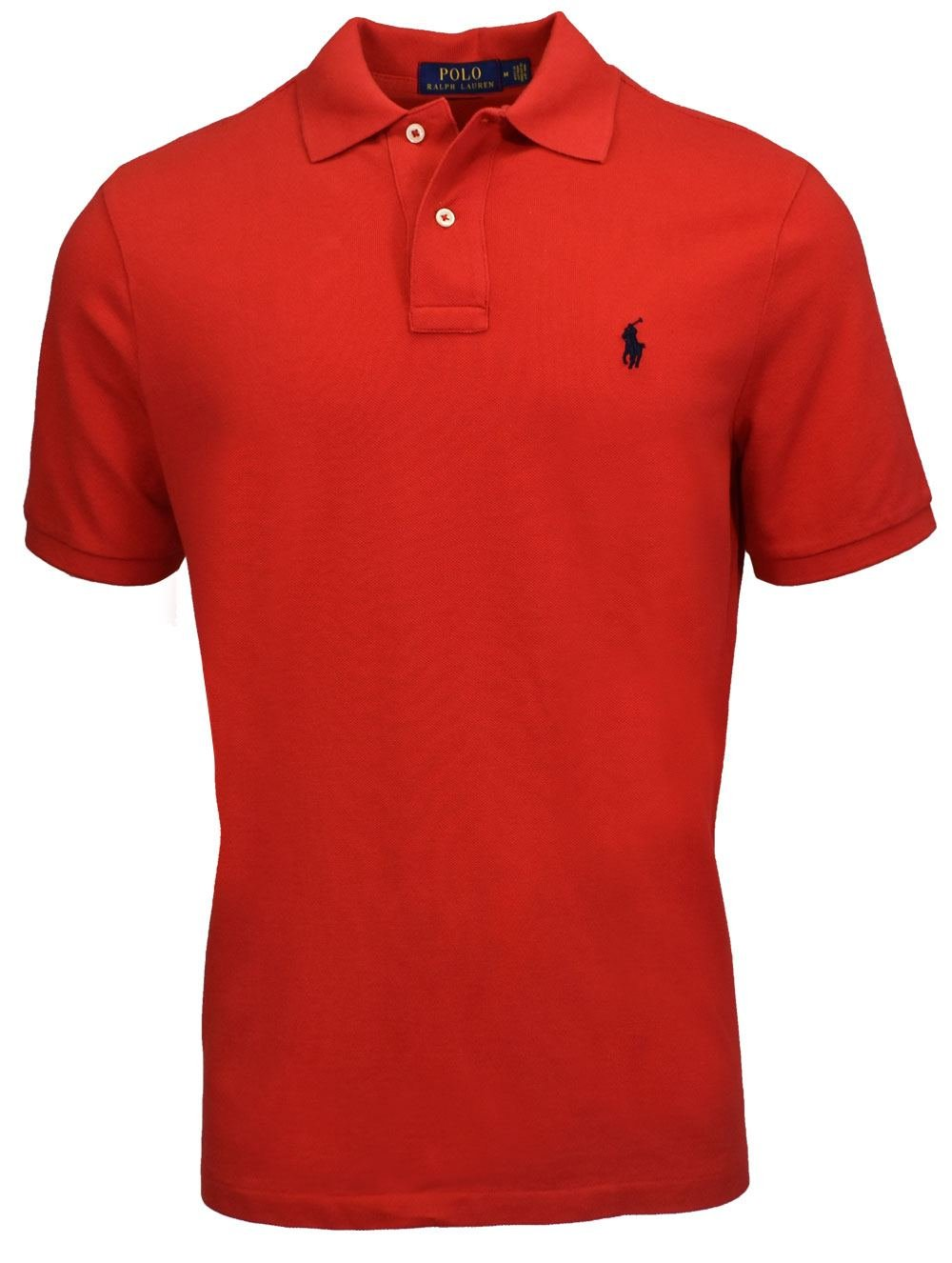 Polo Ralph Lauren- Classic Fit Mesh Polo Red Size Extra Large by Polo Ralph Lauren