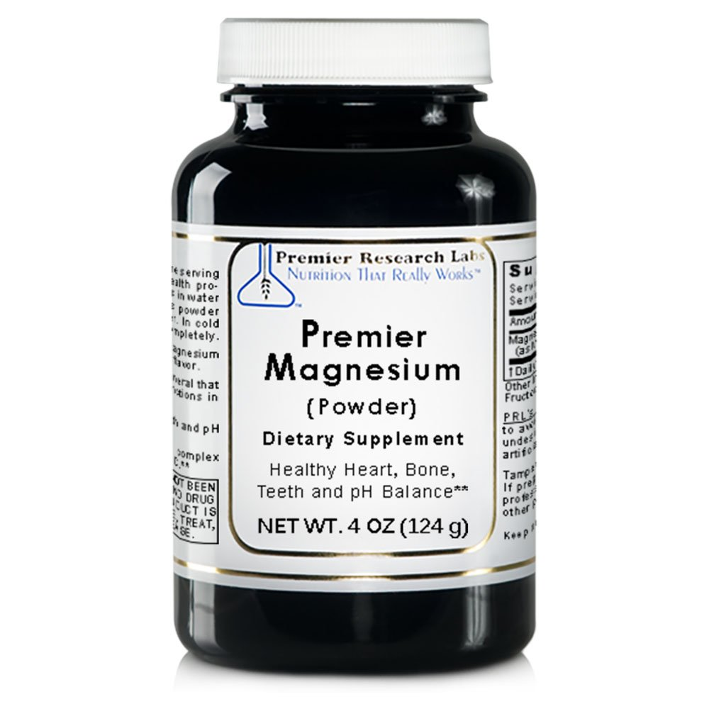 Premier Magnesium, 4oz Powder of Magnesium Lactate Powder, a Highly Absorbable Source of Magnesium
