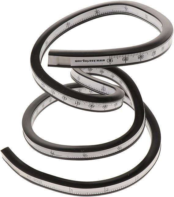 R/ègle courbe flexible pour dessiner et dessiner en plastique vinyle 30 cm 40 cm 50 cm 60 cm 30
