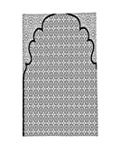 Interestlee Fleece Throw Blanket Moroccan Decor Arabian Art Background with a Group of Traditional Turkish Ottoman Forms and Patterns Black White