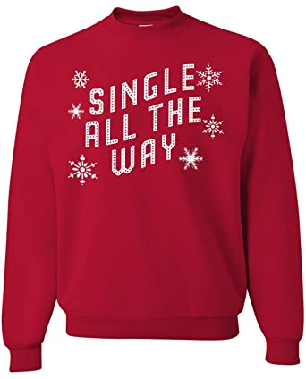 funny christmas sweaters gifts for women single all the way red xs