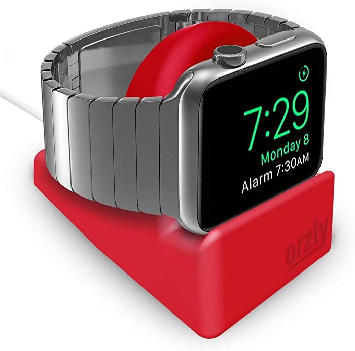 Orzly Compact Stand for Apple Watch Charger, Night Stand Mode Compatible, Integrated Cable Management Slot (Compatible with Apple Watch Series 4 Series 3 Series 2 Series 1 38mm 42mm 40mm 44mm) Green