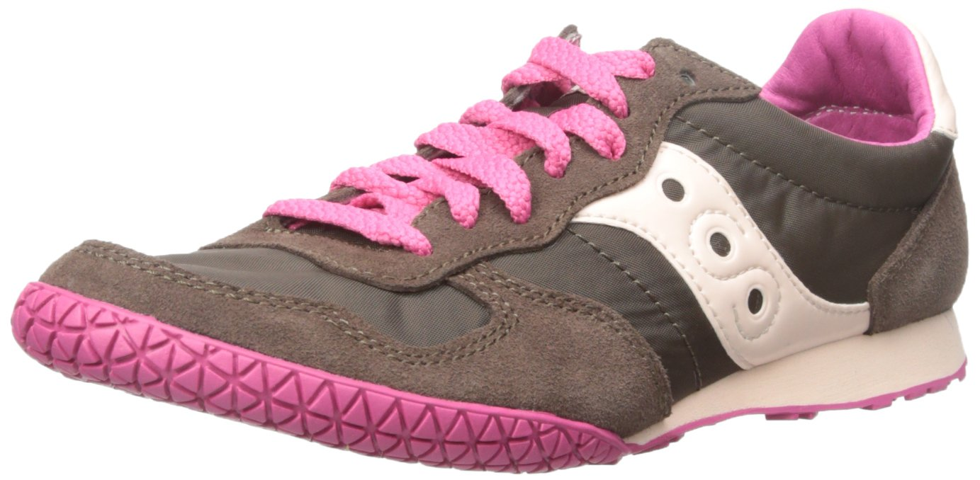 Saucony Originals Women's Bullet Sneaker B00XV9VHK4 5 B(M) US|Brown/Pink