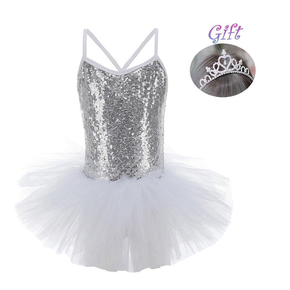 houg ood ragazza danza paillettes vestito abito da principessa balletto costumi da ginnastica Trikots Hougood