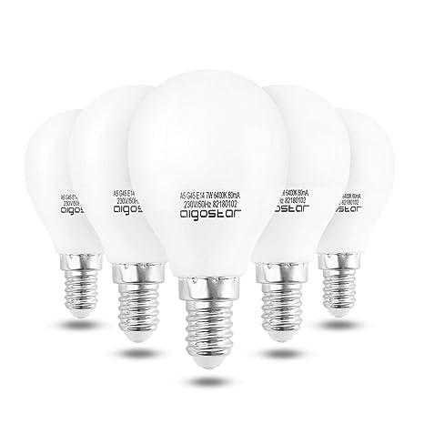Aigostar - Bombilla LED A5 G45, E14, 7 W equivalente a 60 W,