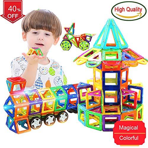 PPH3 Shine Blocks Magnetic Designer Construction Set Model & Building Toy Plastic Magnetic Blocks Educational Toys for Kids Gift (Plum) by PPH3 Shine (Image #5)