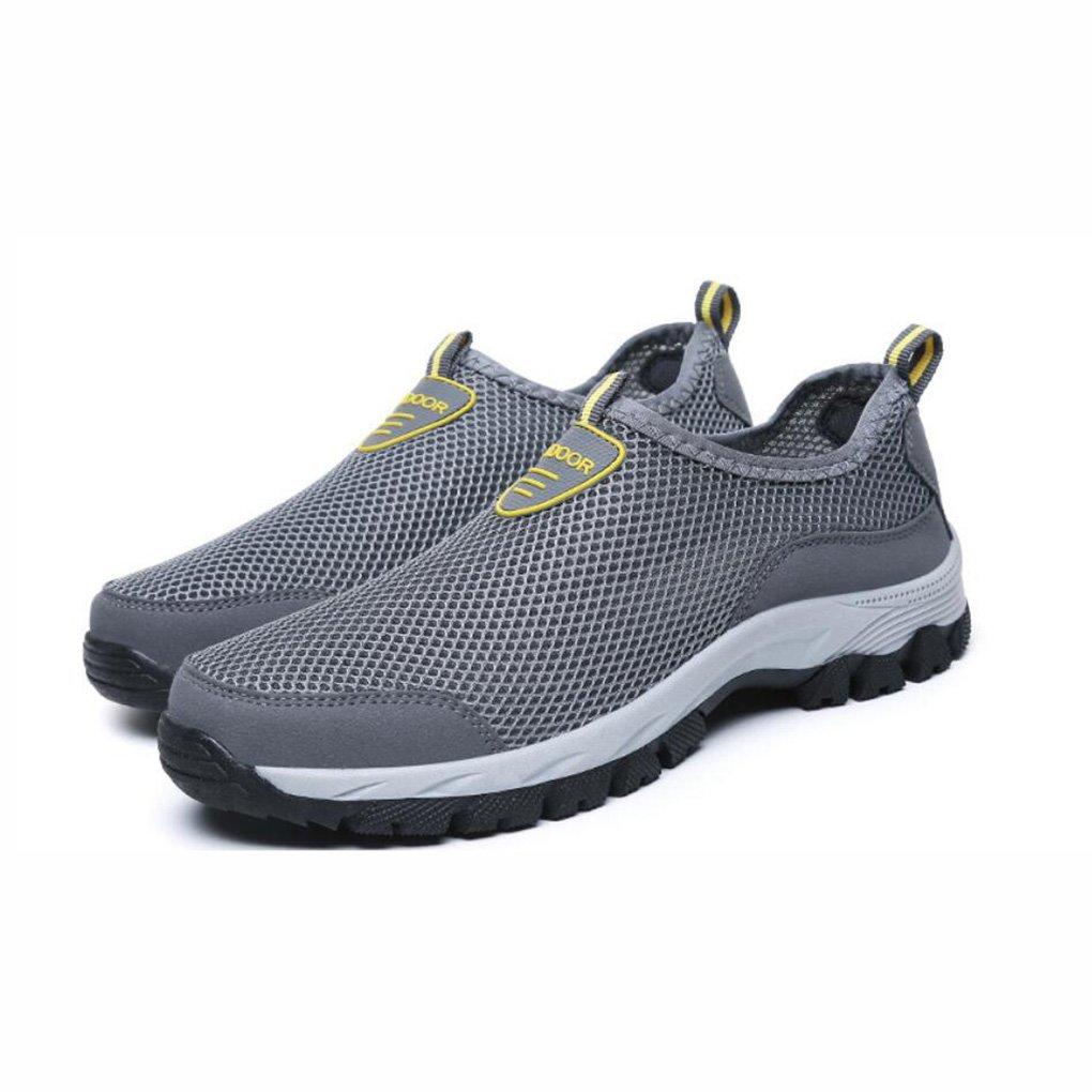 YaXuan Zapatillas de Deporte de Verano, Zapatos de Malla para Hombres, Zapatos de Malla Transpirable de Deporte para Hombres, (Color : Gris, Tamaño : 39) 39|Gris