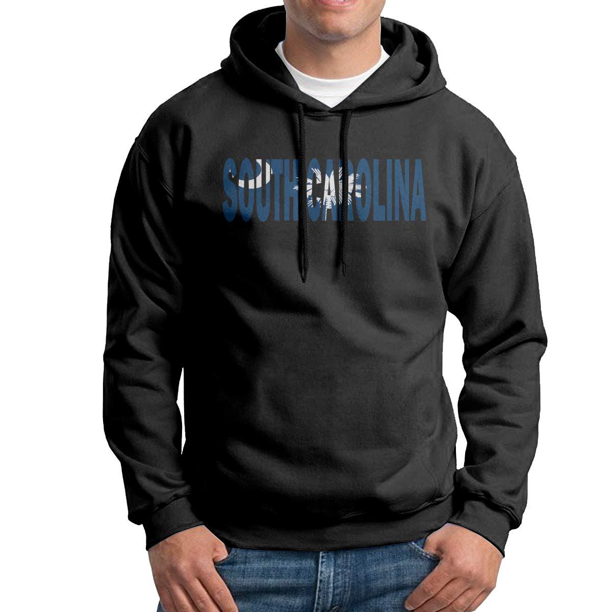 Boys South Carolina Flag Patterns Print Athletic Pullover Hood Fashion Sweatshirts
