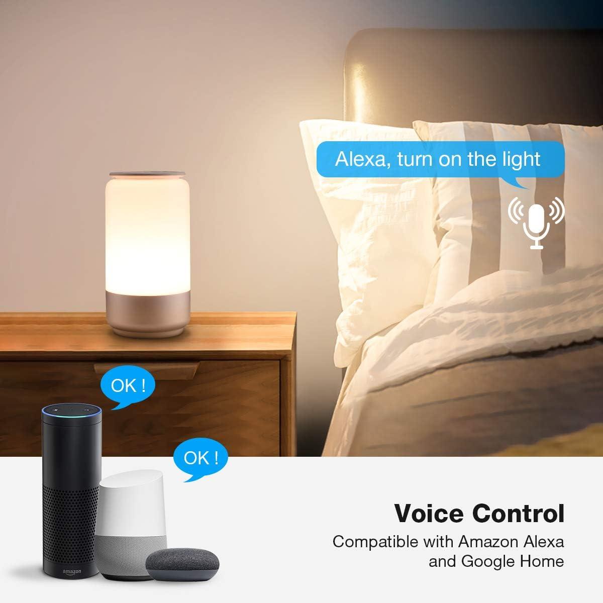 Le Lampada Da Comodino Touch Intelligente Wifi Compatibile Con Alexa E Google Home Luce Notturna 16 Milioni Rgb E Bianco Dimmerabile 2000k 6000k Lampada Da Tavolo Smart Controllo Da App E