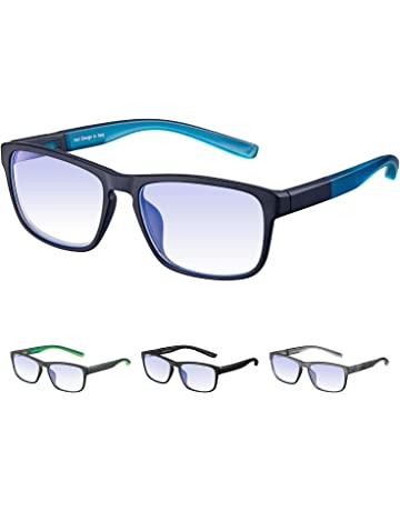 44055f5419 Rezi Gafas de ordenador Gafas Lectura para Protección contra Luz Azul -  Alta Protección para Pantalla