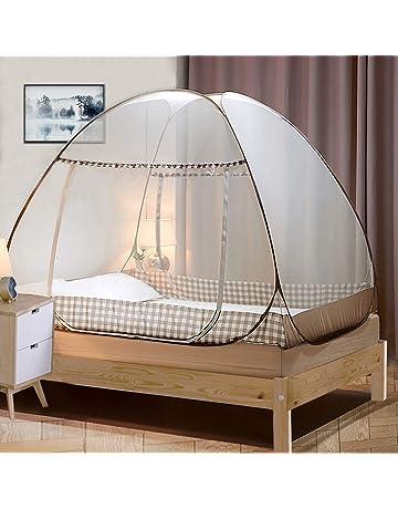 Firlar Mosquitera para Cama con 4 Puertas Verano e Interior para Dormitorio 190 x 210 x 240 cm protecci/ón contra Mosquitos