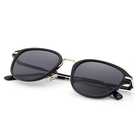f1cad8f729 Amazon.com  Menton Ezil Vintage Fashion Erika Style Polarized Sunglasses  Retro Black Eyewear for Womens Girl Driving Gifts  Clothing