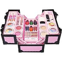 Princess Cosmetics Makeup Play,Princess Cosmetics Play Set Makeup kit with Mini Case for Girls Kids Birthday