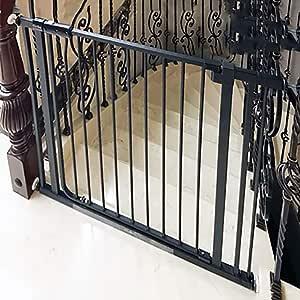 Seguridad para Bebés Parque para Niños Puertas para El Hogar Escaleras para Niños Cercas Cercas para Mascotas Perros Barandas Puertas, Negro/Blanco, Altura 81cm: Amazon.es: Hogar