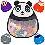 BATH TOY ORGANIZER (Panda) - Safe & Mildew-Free - Perfect for Baby Bath Toys - Organizer w/ 2 FREE Suction Cups for Sturdy Bath Toy Storage