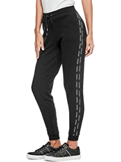 GUESS Factory Womens Bevy Logo-Stripe Joggers