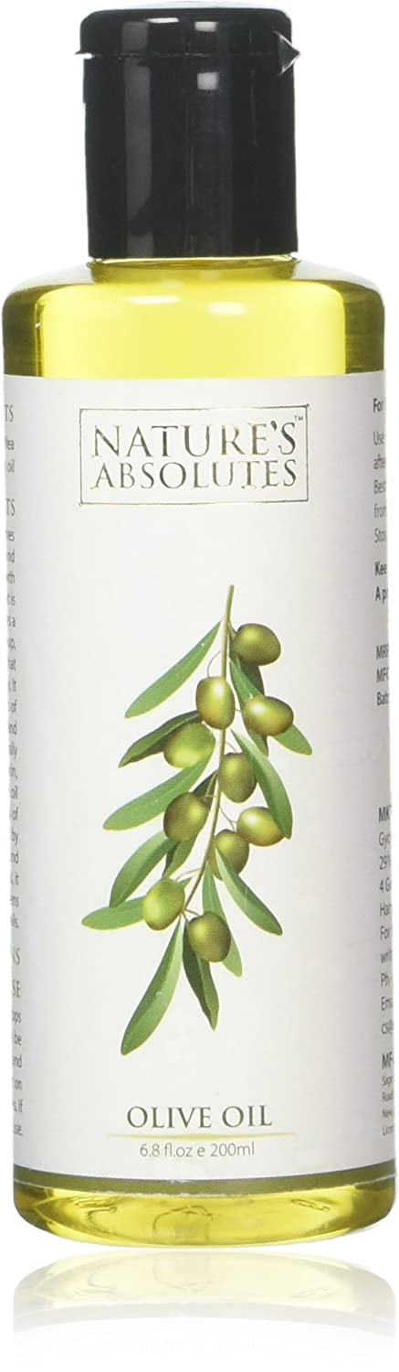 Nature's Absolutes Olive Oil - 6.8Oz/200 ml, 100% Pure, Cold Pressed & Organic For Hair and Skin Sage Apothecary