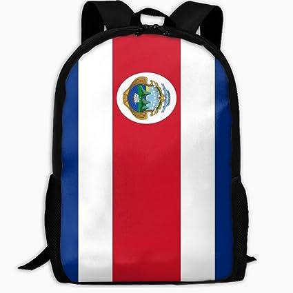 ChunLei Mochila Escolar para niños con Bandera de Costa Rica al Aire Libre, Mochila de