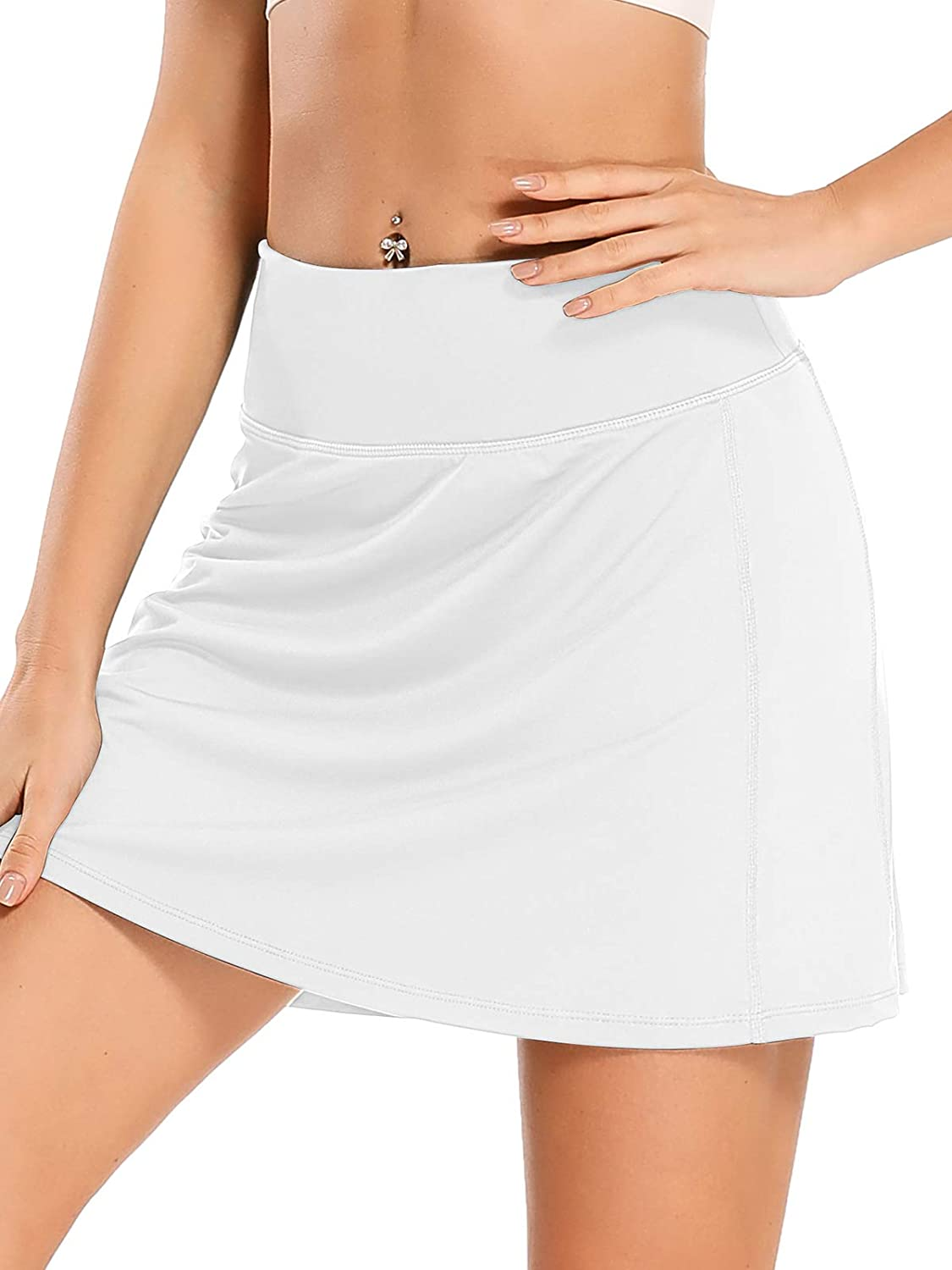 Women's Athletic Tennis Skorts with Pockets Workout Golf Exercise & Running Skirts Sport Skorts: Clothing
