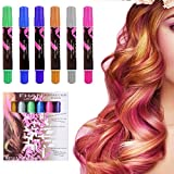 #6: Ameauty Hair Chalk, 6 Colorful Non-Toxic Temporary Washable Hair Dye Colors Wax for Kids, Christmas Birthday Gifts, or Party & Cosplay, Works on All Hair