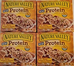 Nature Valley,Protein,Honey,Peanut&Almond chewy bars ( 4 Pack)