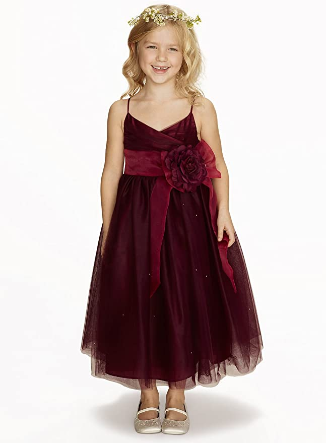 37585cb1fe Amazon.com  princhar Tulle Flower Girl Dress Junior Bridesmaids Dress  Little Girl Toddler Dress  Clothing