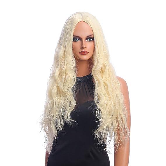 Peluca Falamka pequeña, rizada y larga, de mujer, moderna, para el uso diario: Amazon.es: Belleza
