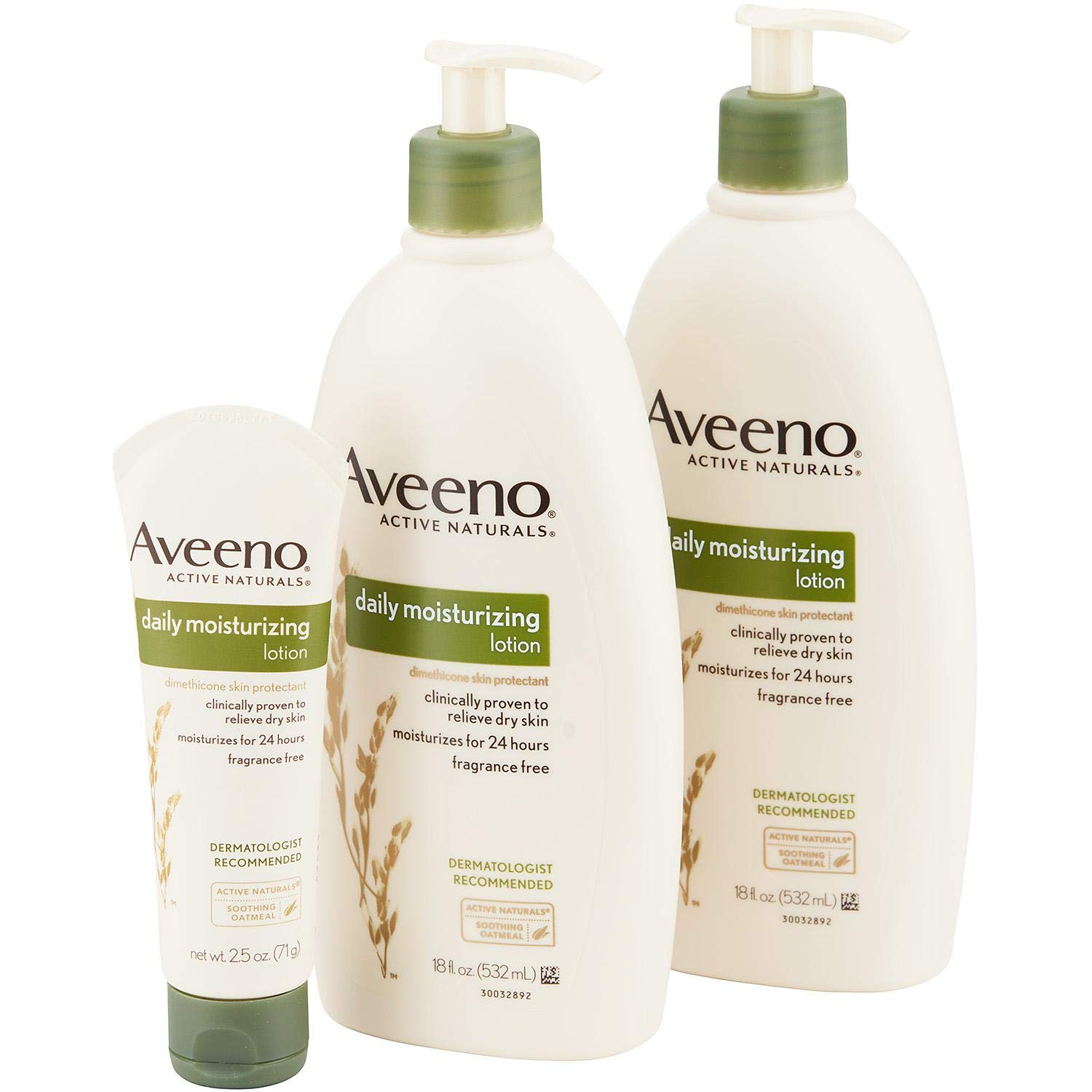 A Fragrance-free, non-greasy, and non-comedogenic Daily Moisturizing Lotion Variety Pack