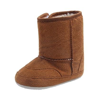 Gazechimp Par Zapatos Polar Blandos para bebé Cuna Suave Cálido Cómodo Confortable Antideslizante - marrón,